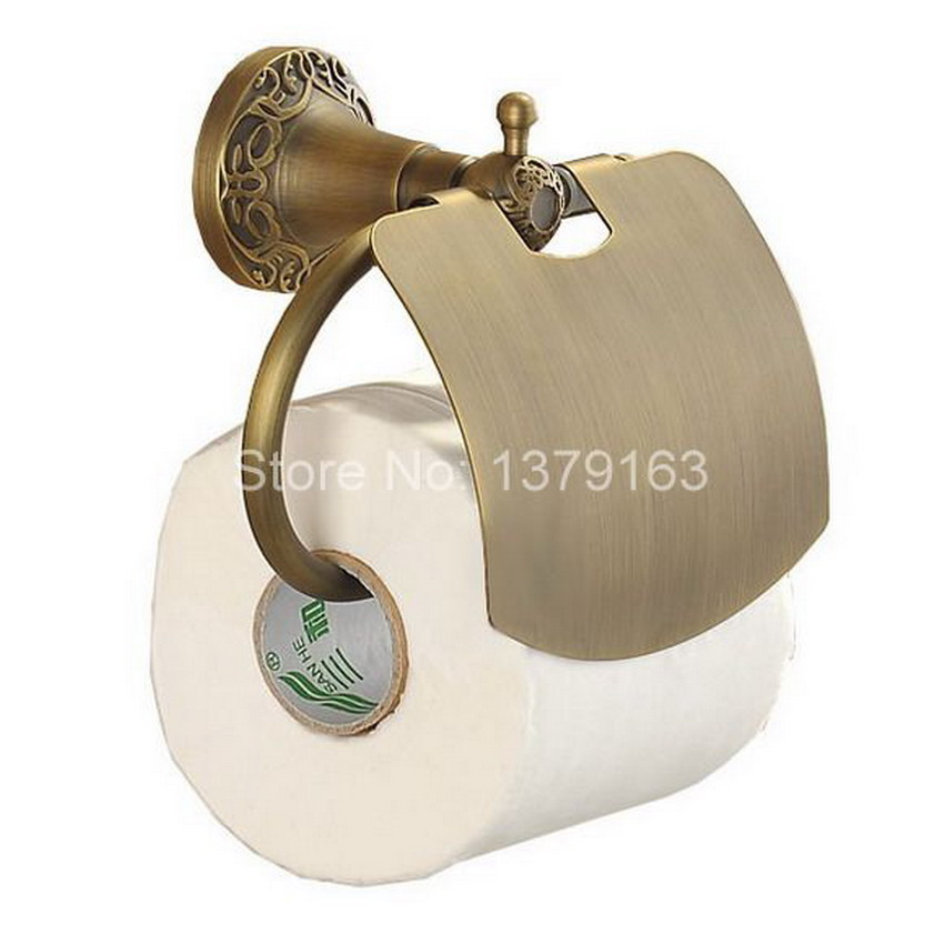 Bathroom Accessory Antique Brass Wall Mounted Copper Toilet Paper Roll Holder Free Shipping! aba037 bathroom accessory antique brass wall mounted copper toilet paper roll holder free shipping aba037