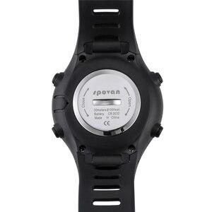 "Image 4 - מקורי 22 מ""מ שחור סיליקון גומי שעון רצועה עמיד למים ספורט צפו בנד עבור WristsWatch Spovan מנהיג 2/SPV709/ SPV710"