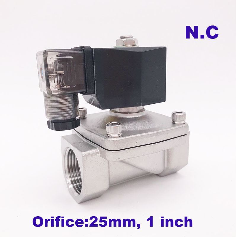 """GOGO 2 way SS304 water electric solenoid valve normally close Port G1"""" 12V DC Orifice 25mm SPU 25 zero pressure start plug type-in Valve from Home Improvement on AliExpress - 11.11_Double 11_Singles' Day 1"""