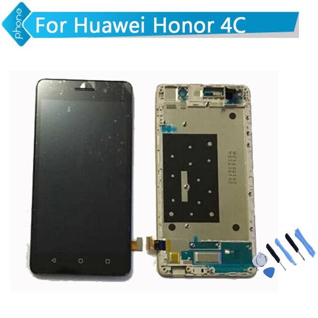 Para huawei honor 4c pantalla lcd marco de pantalla táctil digitalizador asamblea negro oro blanco + herramientas