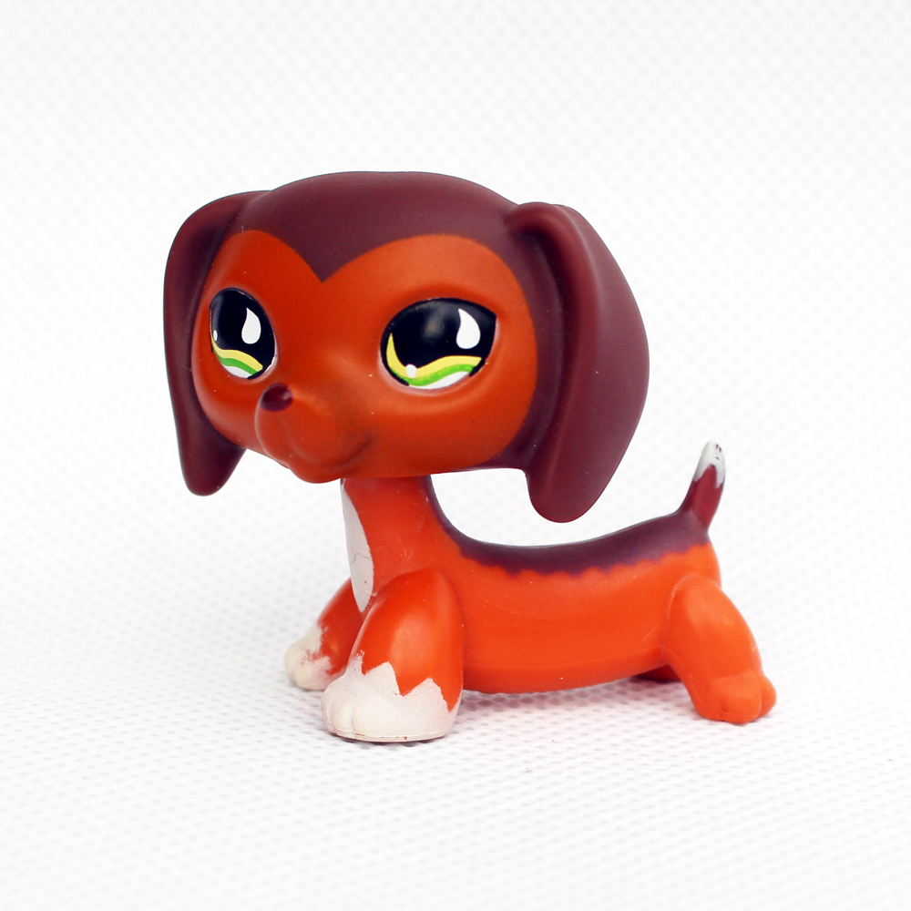 Rare Animal pet shop toys DACHSHUND Savannah Savvy #675 cute little brown sausage dog toy for kids Christmas present saintgi toy bag 12pcs bag random little pet shop lps toys animal cartoon cat dog action figures collection kids toys gift