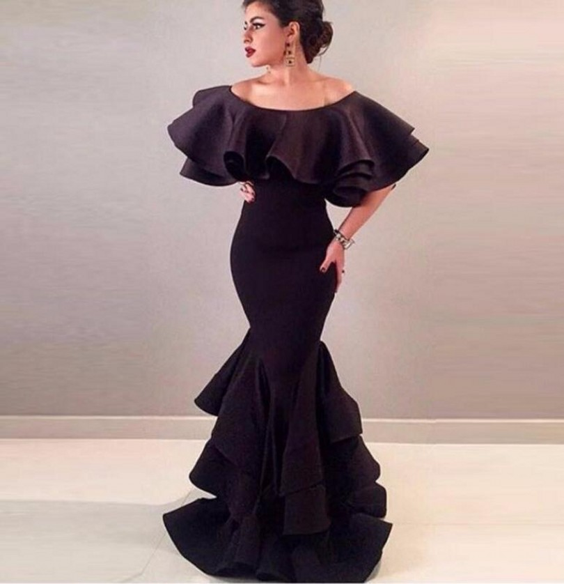 Arabic Mermaid Evening Dress 2016 Celebrity Lace Formal Turkish Islamic Muslim Evening Gowns For Wedding Party Prom Dresses