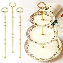 3 яруса радиан торт Тарелка стенд кекс фитинги Серебряный Золотой Свадебная вечеринка принадлежности XHC88