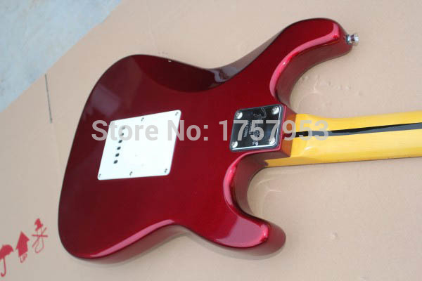 Factory custom shop 2017 Newest Custom left hand Candy Apple Red ST electric guitar Free shipping (HAI 4 stratocaster