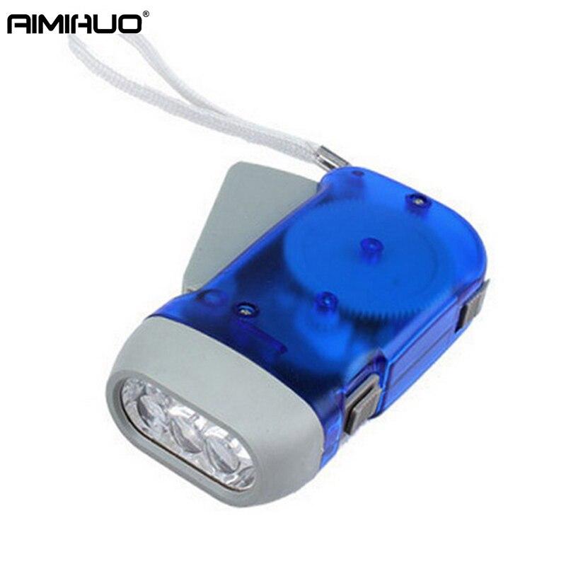 Ручной нажатии фонарик Динамо коленчатого мини-аварийный фонарик дома творческой стороны Pinch мини самозарядки фонарик