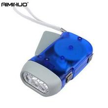 AIMIHUO Hand-press flashlight dynamo hand-cranked mini emergency flashlight home creative hand pinch self-charging flashlight