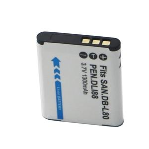 Image 5 - 2 adet D LI88 D LI88 DB L80 li ion dijital kamera Pil DB L80 Sanyo VPC CG10 VPC CG20 PENTAX VPC CG88 CG100