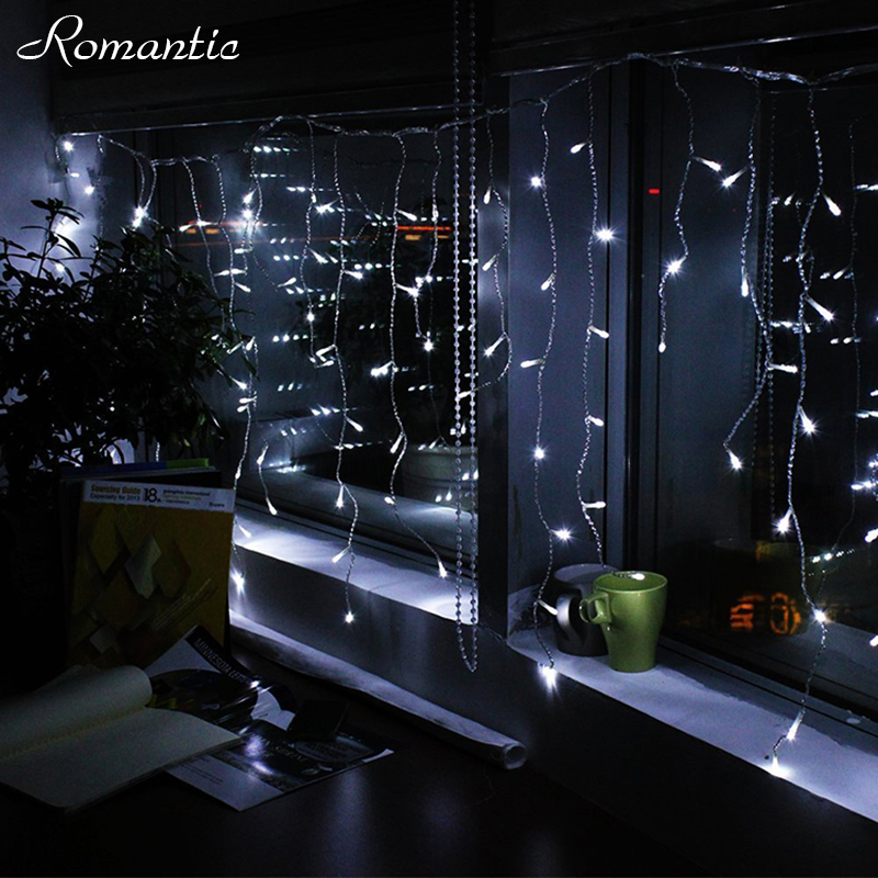 Led 504m 06m 08m white icicle lights curtain fairy light outdoor led 504m 06m 08m white icicle lights curtain fairy light outdoor home christmas garland string lighting weddings living room in lighting strings from workwithnaturefo