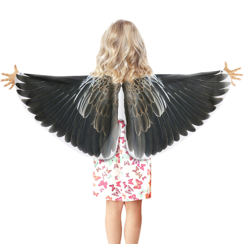 SPECIAL 120*70 Cm Black Flying Eagle Costume Crow Wings Halloween Games Costume For Boys Kindergarten Party Dance Show Suits