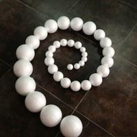 Free shipping 1000pcs/lot 30mm Polystyrene balls ,foam ball,styrofoam styrene balls,DIY Foam balls,DIY materials 004002002