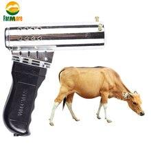 Aquecimento rápido cabeça de gado dehorner airgun tipo bezerro chanfro ferro elétrico cerâmica sem sangue ângulo dispositivos para cordeiro bezerro