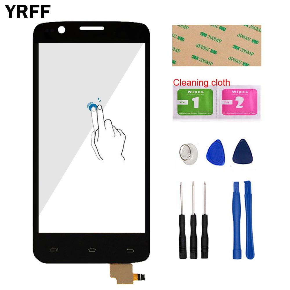 4.5 Mobile Phone Front Glass For FLY IQ4409 Quad ERA Life 4 IQ 4409 Touch Screen Digitizer Panel Glass