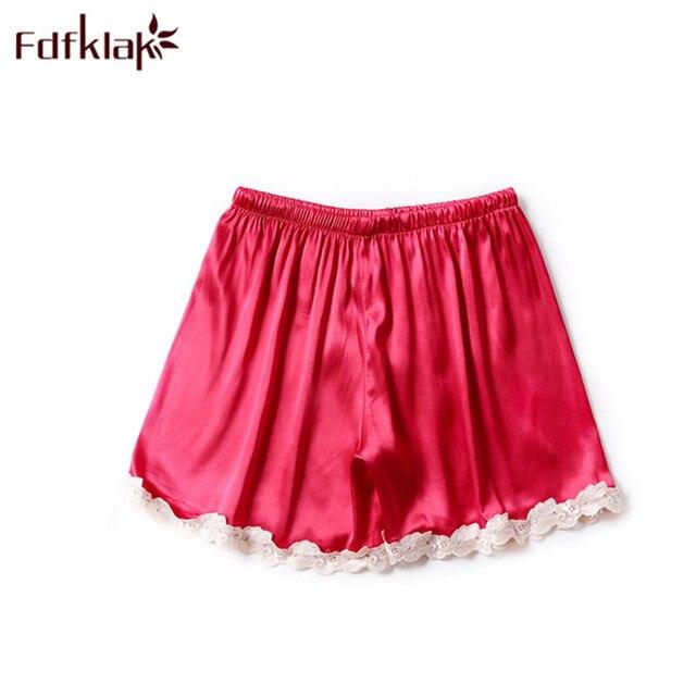 ff2e6af0f Fdfklak Summer Bottoms For Women Sleeping Shorts Women Sleeping Trouser  Lace Pajama Pants Faux Silk 5 Styles Lounge Pants Q1223