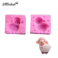 FILBAKE New Home Baking Tools DIY Diamond Little Sheep Stereoscopic Handmade Soap Mold Silicone Candle Mold Of Cake Mold