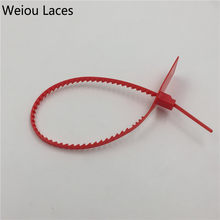 Weiou Disposable Plastic Seals Woven Braided Bags Sealing Red Strips Zip Tie Lock System Off White For Sneakers Shoe Accessories(China)