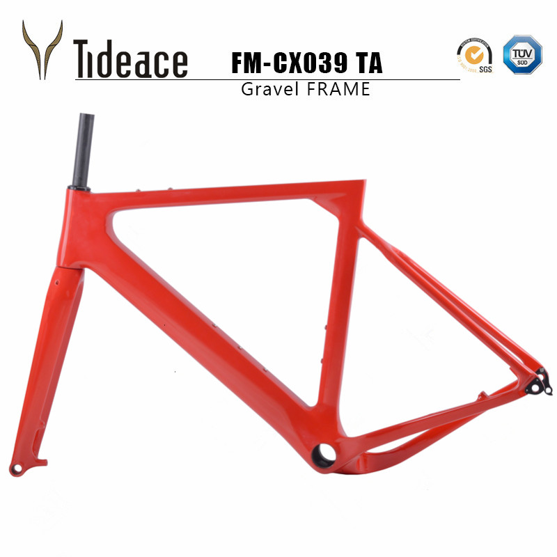 2018 NEW arrival Aero Road or MTB Bike Frame S/M/L size Cyclocross Frame Disc Bike Carbon Gravel frame QR or thru axle track frame fixed gear frame bsa carbon 1 1 2to 1 1 8 bike frameset with fork seatpost road carbon frames fixed gear frameset