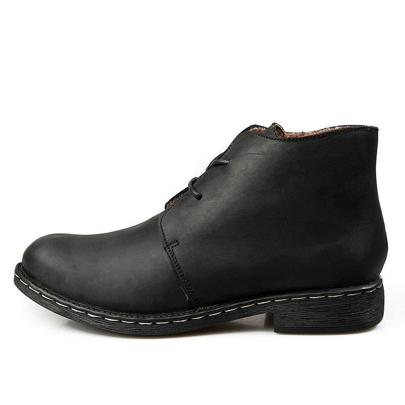 Britischen Stil Vintage Männer Stiefel Crazy Echte Leder Martin ... 336b8f8fef