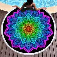 Mandala rond serviettes de plage été géométrique épais bain douche serviette 150 cm cercle plage natation Yoga tapis couvrir serviette de plage