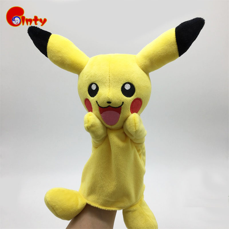 new children doll pikachu hand puppet toys baby classic finger