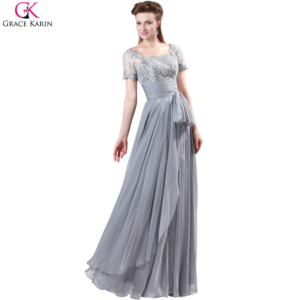 Grace Karin Long Evening Dresses 2017 New Arrival Gray ...