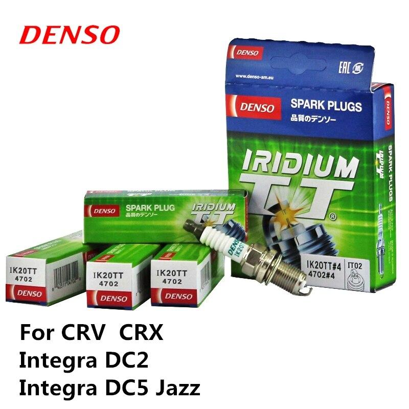 4pieces/set DENSO Car Spark Plug For Honda CRV CRX Integra DC2 Integra DC5 Jazz Iridium Platinum IK20TT rotary 12553 denso spark plug w16epr u