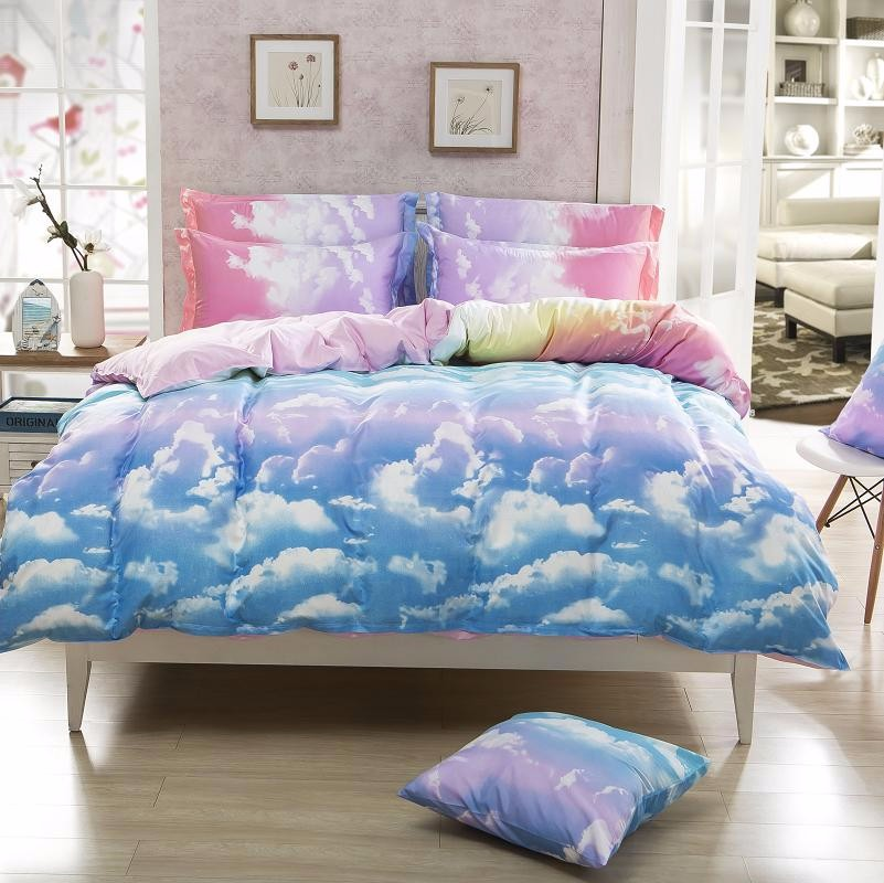 Bedding Set Clouds Duvet Cover Sets Pillowcase Queen Full
