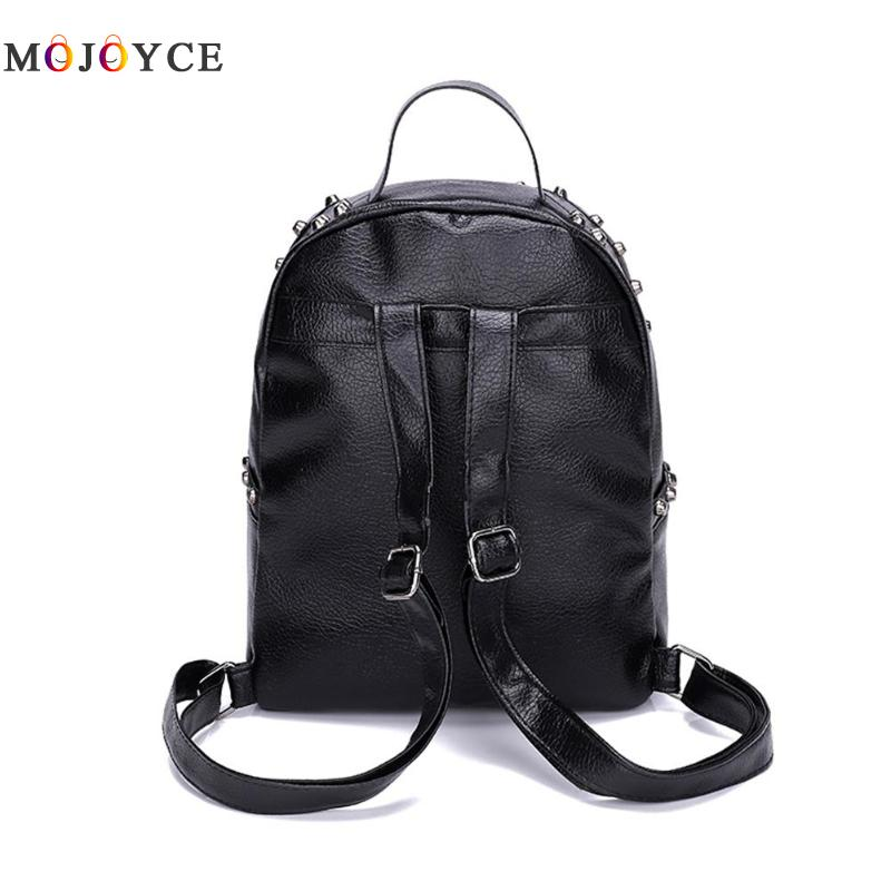 Classic Rivets Women Mini Backpacks Pu Leather Street Casual Girls Shoulder Zipper School Backpacks Mochila Feminina #4