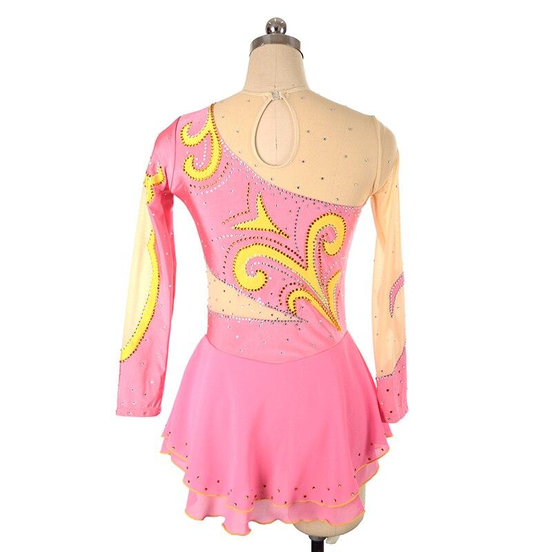 skräddarsydda kläder skridskor klänning rytmisk gymnastik långärmad ... 9d4dafb952283