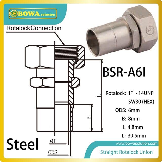 6mm Ods Gerade Sw30 Hex Rotalock Ventil Installiert Warmwasser