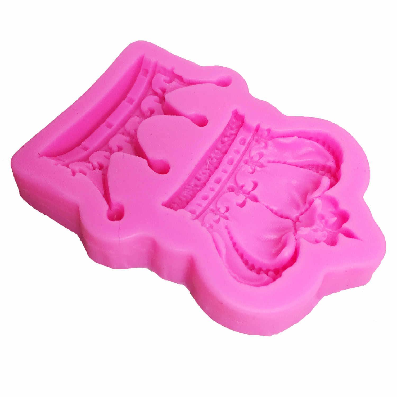 M0761 corona real para fondant de silicona molde moldes de gel de sílice coronas moldes de Chocolate caramelo molde herramientas de decoración de pasteles de boda