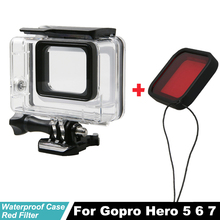 Waterproof Protection Housing Case Diving 45M Protective Red Filter For Gopro Hero5 Hero6 5 black Go pro Hero7 6 Accessories