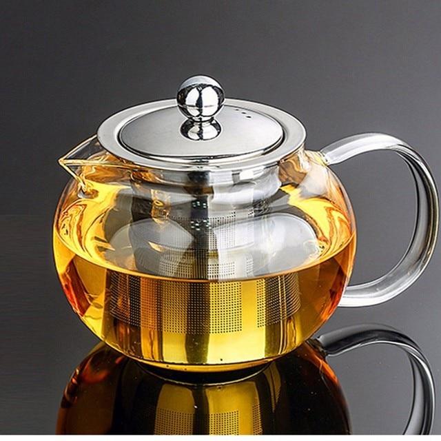 Heat Resistant Glass Tea Pot Flower Tea Set Puer Kettle Coffee