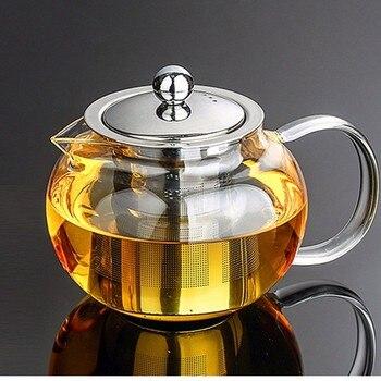 Heat Resistant Glass Tea Pot Flower Tea Set Puer kettle