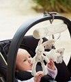 Bebés Cochecito multifuncional Lindo Conejo de Peluche de Juguete Colgante Musical Colgante Lindo Recién Nacido Cochecito de Cama Sonajero Muñecos de Animales