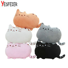 1 Piece On Sale 7 Colors 40 CM Cat Soft Plush Toys  Stuffed Animal Doll Or Cat Skin Cushion Baby Toys Children Kids Gifts