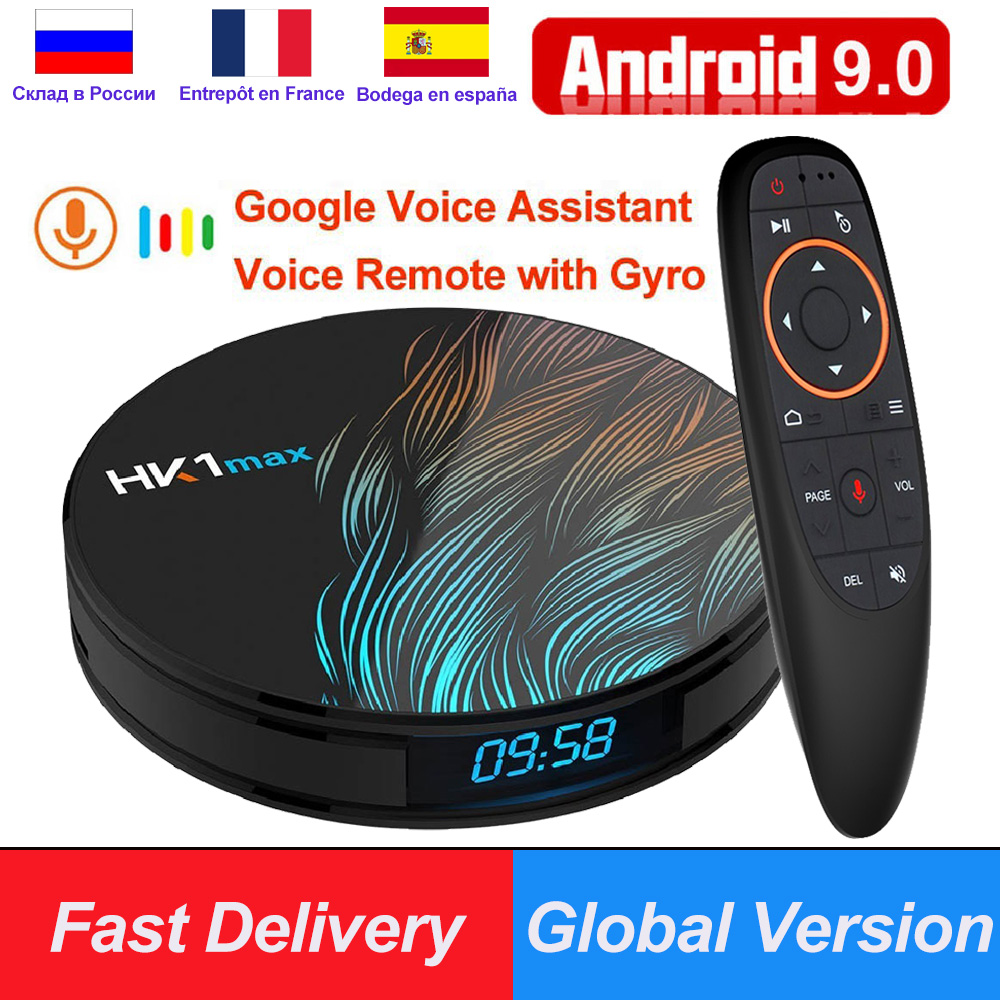 HK1 Max RK3318 Android 9.0 Smart TV Box 4GB RAM 64GB 128GB 4K Youtube H.265 60fps BT4.0 google Play store Netflix Android Box