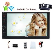 Free Backup Camera Android 5.1 Head Unit Double Din Car Stereo without DVD Player in Dash Touchscreen GPS Navigation autoRadio