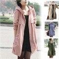 Новый 2014 зимние пальто большой бренд высокого качества Подлинной моды свободные чистый цвет вязать пальто женщин плюс размер женщин пальто