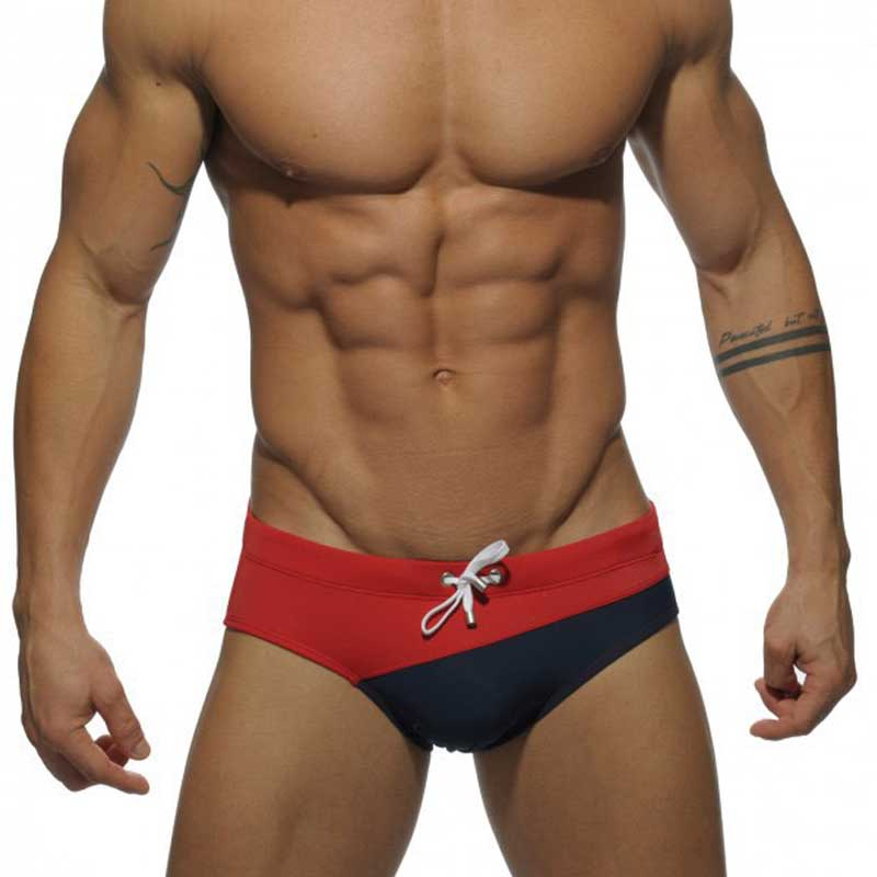 Men Briefs Swimwear Patchwork <font><b>Bikini</b></font> Men's Briefs Swimsuits Low Waist <font><b>Sexy</b></font> Triangle Swimwear Gay slip de bain <font><b>homme</b></font> image