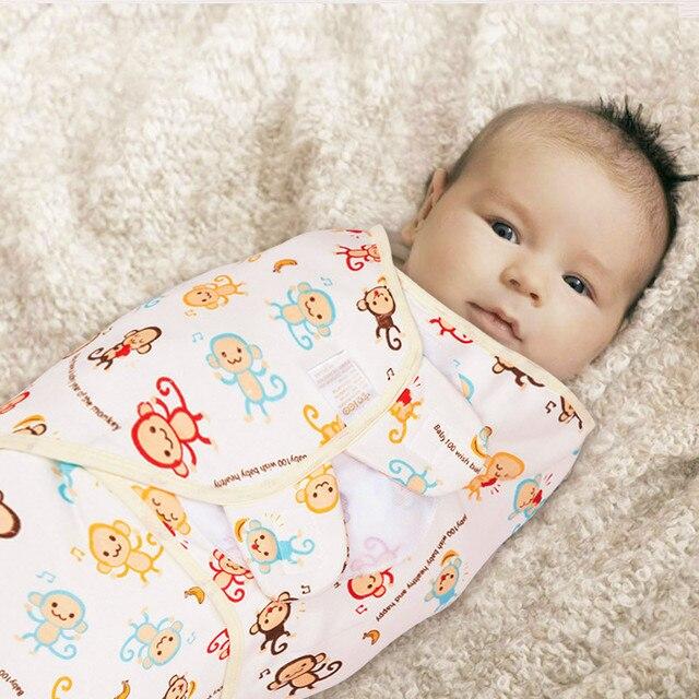 Hot Sale Newborn Infant Baby Sleeping Bag Cotton Towel Anti Kick Cloth Wrapped Soft Baby Sleeping Warm Swaddle