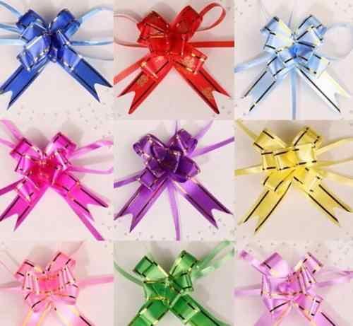 10 יח'\חבילה אריזת Bow סרטים דקורטיבי נופש משוך סרטי פרח מתנה לחג המולד