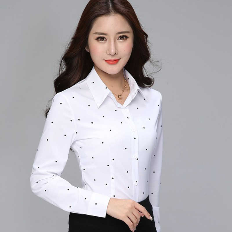 Women Tops And Blouses Female Blusas Blouse Office Lady Slim Shirts Women Blouses Long Sleeve Plus Size Tops Casual Shirt