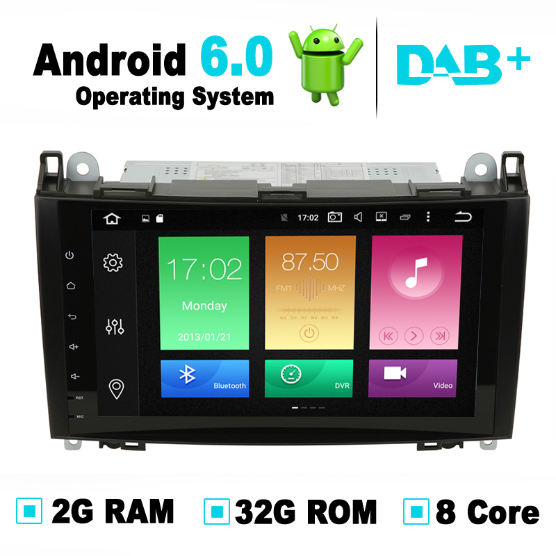 8 Core 9 inch Android 6 0 Car GPS Navigation System Radio for Mercedes A Class
