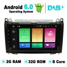 8 Core 9 pulgadas Android 6.0 Sistema de Navegación Del GPS Del Coche Radio para Mercedes W169 Clase B Clase W245, Viano/Vito, Sprinter W906