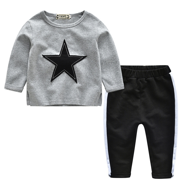 Brand Kids Clothes Set Gaueey Fashion Baby T-shirt+Pants 2PCS Tracksuits For Boys Girls Star Children Clothing Set Kids Outfit toddler tracksuit autumn baby clothing sets children boys girls fashion brand clothes kids hooded t shirt and pants 2 pcs suits