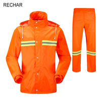 High Quality Fashion Adult Men And Women Split Reflective Raincoat Rain Pants Workers Polyester Waterproof Suit