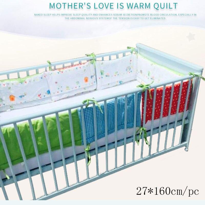 1 Pc Einfache Stil Design Baby Bett Verdicken Stoßstangen Kombiniert Krippe Um Kissen Bett Protector Kissen Neugeborene Room Decor 27*160 Cm Entlastung Von Hitze Und Sonnenstich