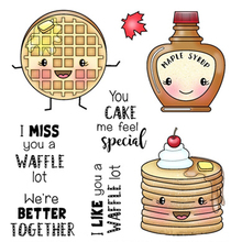 Waffles and birthday cake Clear Stamps/seal for DIY Scrapbooking/Card Making/Photo Album Decoration Supplies