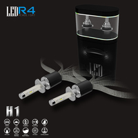 Free Ship One Set Super Bright Car Led All In One Bulb Kit R4 H1 Black