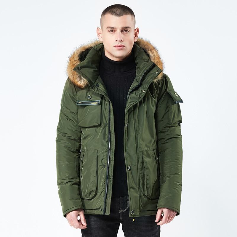 2018 Männer Winter Jacke Marke Abnehmbare Pelz Kragen Männlichen Mäntel Warme Beiläufige Lange Parka Mantel Herren Dick Outwear Kleidung Bf8827
